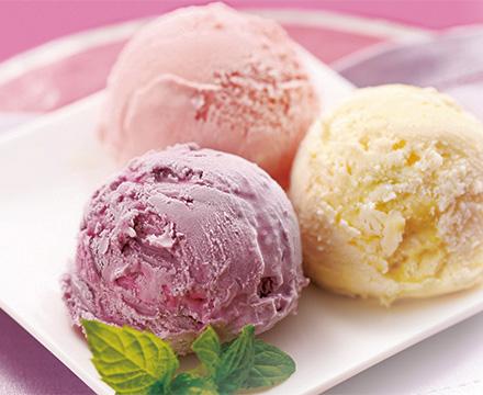 アイスクリーム&フルーツ