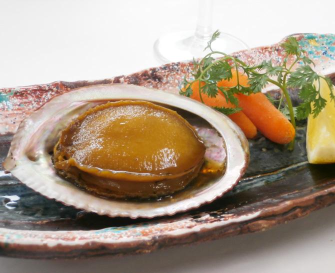 徳島 「吟月」 あわびやわらか煮