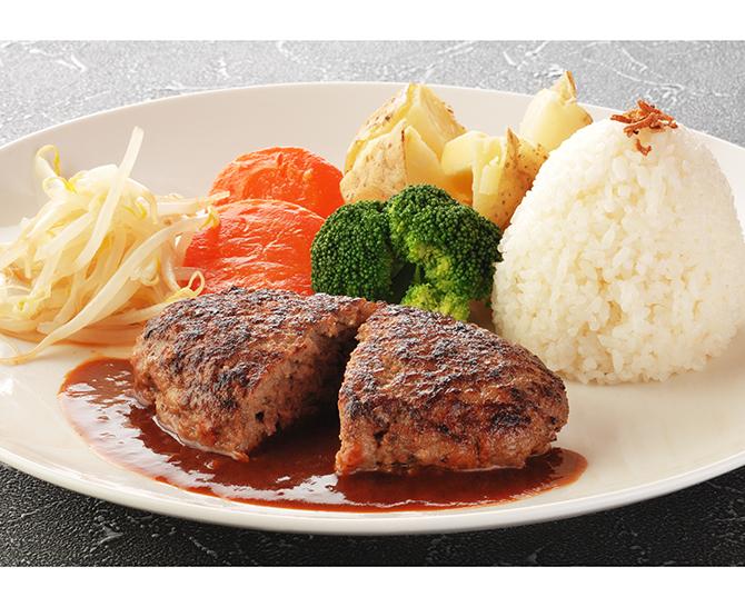 〈肉の石川〉 デミグラスハンバーグ